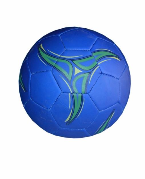 Мяч футбольный из кожзаменитель-матовый,синий. FT9-8