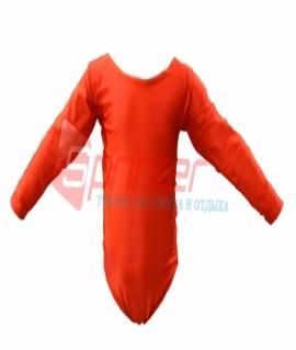 Купальник гимнастический красный. Размер: S  (2014)