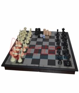Игра 3 в 1 магнитная (шашки,шахматы,нарды). 33х33 см. 9818