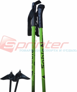 Лыжные палки STC из стеклопластика 120 см.
