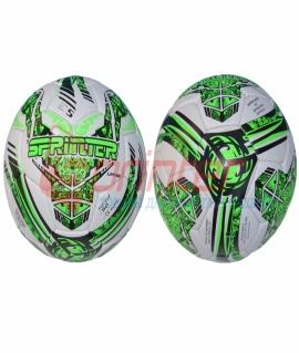 """Мяч футбольный """"Sprinter"""" из прессованной кожи, белый с зелёным. 1203"""