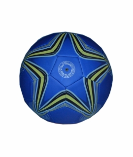 Мяч футбольный  из кожзаменителя,синий. FT9-3