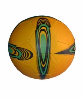Мяч футбольный из кожзаменителя, жёлтый с зелёным. FT9-5