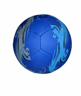 Мяч футбольный из кожзаменителя,синий с серой волной. FT9-31