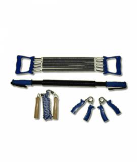 Набор эспандеров из эспандер кистевой , плечевой 5 пружин ,скакалка, эспандер-палка. 4081
