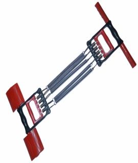 Эспандер плечевой 3 в 1 на 5 пружин по 26 см с пластиковыми ручками. 4004