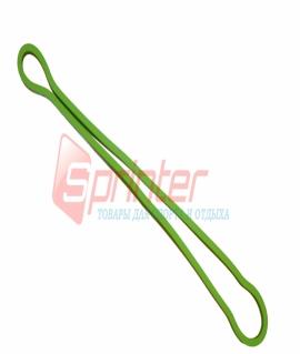 Резиновая петля кольцо из латекса, зелёная. 60х0,3x0,8 см. 645-8