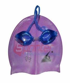 Набор: силиконовая детская шапочка,очки,беруши. 2400