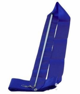 Лента гимнастическая синяя - 6 м