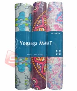 Коврик для йоги и фитнеса с рисунком (172*61*0,6 см) в 3х видах. YMP-6P