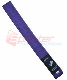 Пояс для карате из хлопка - 270 см. Фиолетовый