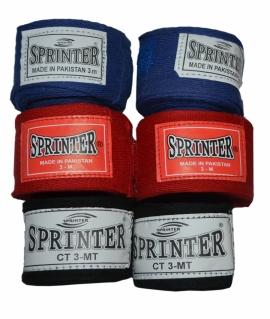 Бинты боксерские  из хлопка. 3 метра.синие,красные,чёрные.527-538