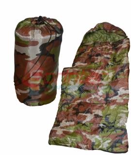 Мешок спальный из холлофайбера,камуфляж.(190+30 см)  MIC-1