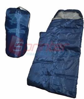 Мешок спальный из холлофайбера,синий. (190+30 см) ZQ-1