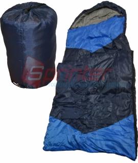 Мешок спальный из холлофайбера,синий с голубыми вставками. (190+30 см) ZQ-1.25