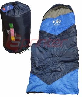 Мешок спальный из холлофайбера,синий с голубыми вставками. (190+30 см)  ZQ-1.65