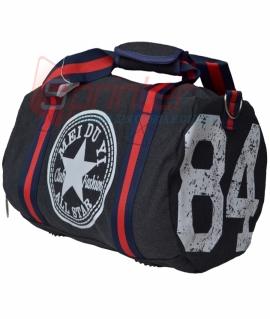 Спортивная сумка в виде бочонка из плотного полиэстра. 45х23х25 см. 8368