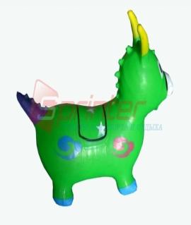 Надувная игрушка-попрыгунчик из ПВХ. Высота 54 см. Вес: 1,3 кг. Зелёный. YJ-DW1