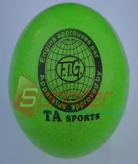 """Мяч для художественной гимнастики """"TA sport T-12"""" - 15 см. Зелёный с блестками"""