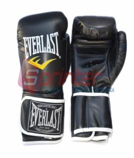 Перчатки боксёрские EVERLAST PU. Цвет:чёрный. Размер-вес:8 .QJ