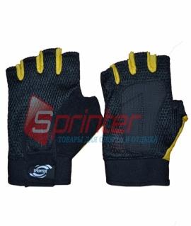 Перчатки без пальцев сетка + махра. Размер: M (Пакистан)
