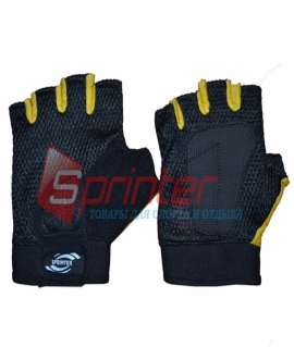Перчатки без пальцев сетка + махра. Размер: XL (Пакистан)