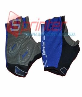 Перчатки для занятий фитнесом и езды на велосипеде. Синие. Размеры: L. 25