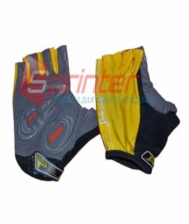 Перчатки для занятий фитнесом и езды на велосипеде. Жёлтый. Размеры: L. 25