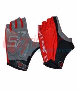 Перчатки для занятий фитнесом и езды на велосипеде. Красный. Размеры: L. 25