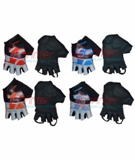 Перчатки велосипедные. Размер: S. Пакистан. Чёрный с красным/чёрный с синим/чёрный с оранжевым/чёрный с голубым. 86-93