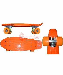 Скейт Penny из качественной пластмассы. Колеса: PU(60 мм). 56*15 см. Оранжевый. 2106