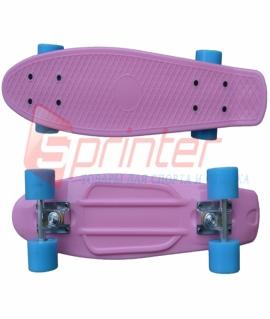 Скейт Penny из качественной пластмассы. Колеса: PU(60 мм). 56*15 см. Розовый. 2106