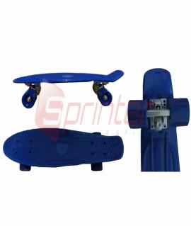 Скейт Penny из качественной пластмассы. Колеса: PU(60 мм). 56*15 см. Синий. 2106
