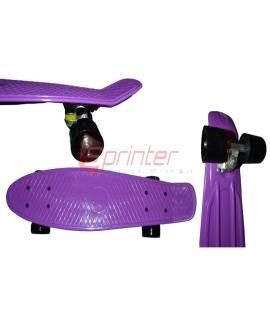Скейт Penny из качественной пластмассы. Колеса: PU(60 мм). 56*15 см. Фиолетовый. 2106