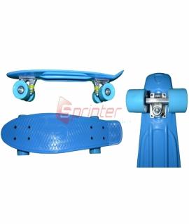 Скейт Penny из качественной пластмассы. Колеса: PU(60 мм). 56*15 см. Голубой. 2106