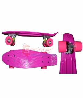 Скейт Penny из качественной пластмассы. Колеса: PU(60 мм). 56*15 см. Малиновый. 2106