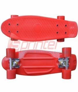 Скейт Penny из качественной пластмассы. Колеса: PU(60 мм). 56*15 см. Красный. 2106