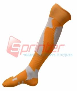 Гетры футбольные взрослые оранжевые. WG-4