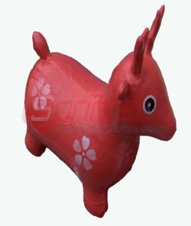 """Надувная игрушка-попрыгунчик """"Олень"""" из ПВХ. Высота 50 см. Вес: 1,3 кг. Красный. YJ-DW3"""