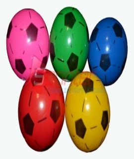Мячик игровой с футбольным рисунком. Диаметр 18 см, вес 75 грамма. Продажа по 10 шт. Цена за 1 шт.  Зелёный/красный/синий/жёлтый/розовый