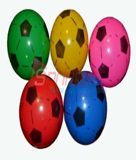 Мячик игровой с футбольным рисунком. Диаметр 20 см, вес 90 грамма. Продажа по 10 шт. Цена за 1 шт.  Зелёный/красный/синий/жёлтый/розовый