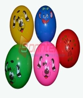 Мячик игровой. Диаметр 25 см, вес 100 грамма. Продажа по 10 шт. Цена за 1 шт. Зелёный/красный/синий/розовый