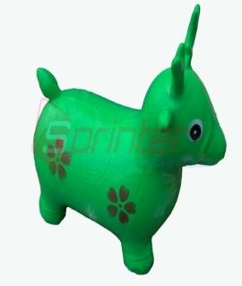 """Надувная игрушка-попрыгунчик """"Олень"""" из ПВХ. Высота 50 см. Вес: 1,3 кг. Зелёный. YJ-DW3"""