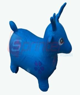"""Надувная игрушка-попрыгунчик """"Олень"""" из ПВХ. Высота 50 см. Вес: 1,3 кг. Синий. YJ-DW3"""