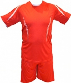 Красная форма футбольная взрослая. Размер: S. Красная