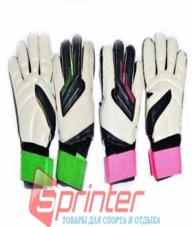 Перчатки вратарские (зелёные/розовые) из латекса. 846