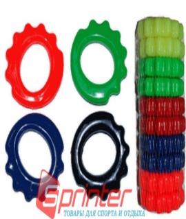 Эспандер силикон с вырезом под пальцы - 20 кг  (10 шт в упак.) разные цвета. O-B5