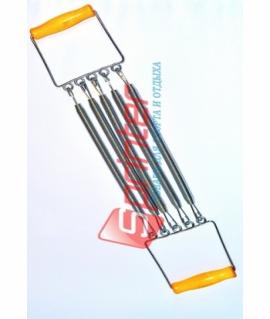 Эспандер детский плечевой - 5 пружин по 30 см с деревянные ручками. ST007 - 4001