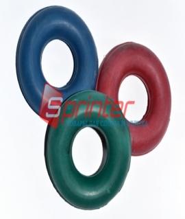 Эспандер большой кистевой из резины. Диаметр 9,5 см. Синий/красный/зелёный. Украина
