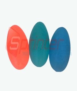 Эспандер яйцо (50 грамм) из силикона с диаметром 58 мм. Синий/зелёный/красный. DQ-8211